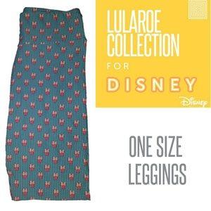 LuLaRoe One Size OS Disney Leggings Blue /& Pink Minnie Ears New